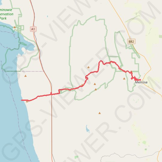 Sea to Summit: Spencer Gulf - Flinders Ranges - Melrose GPS track, route, trail