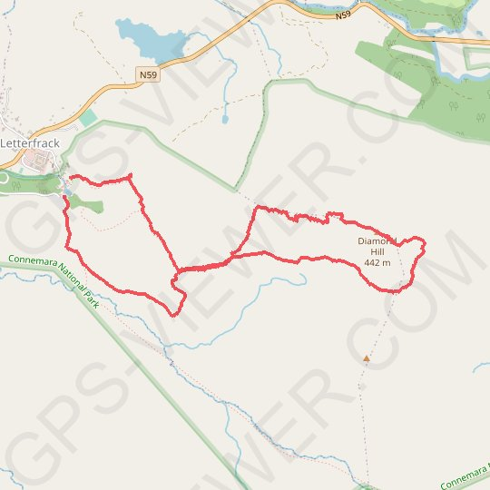 Diamond Hill GPS track, route, trail